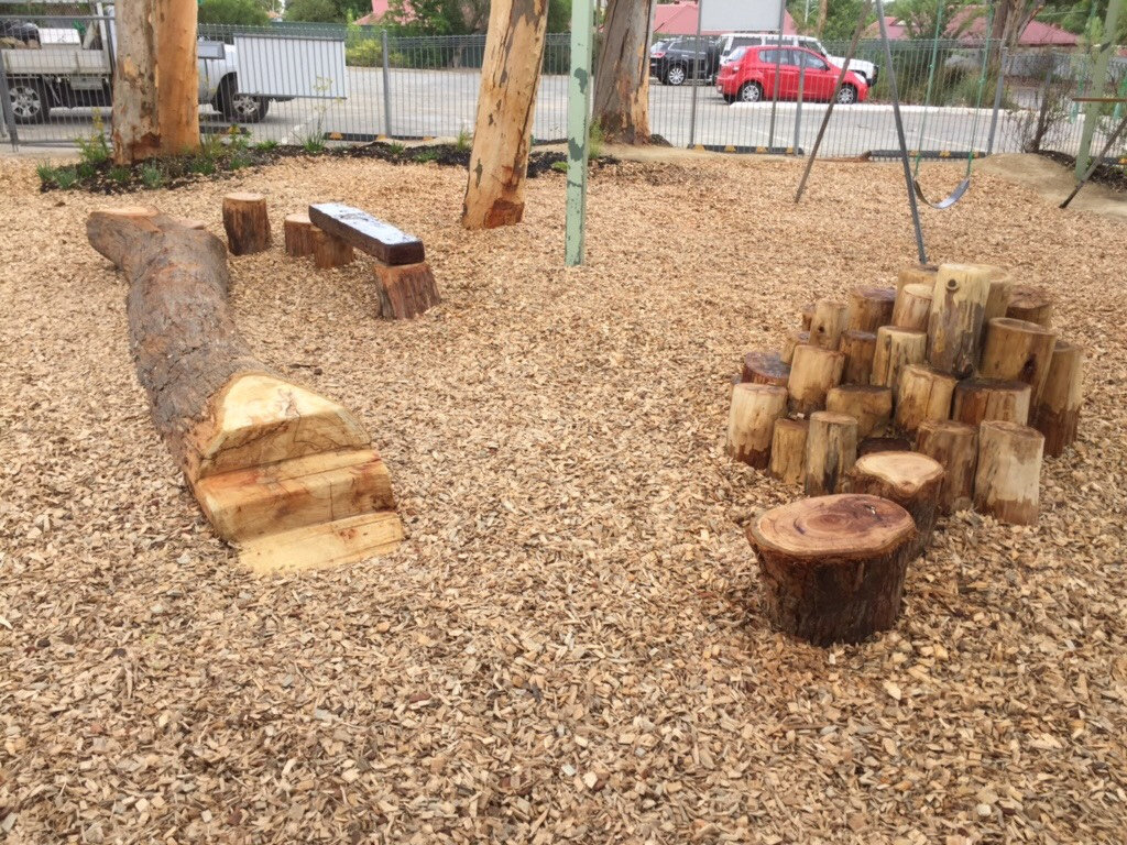 Nature play at athelstone preschool elton landscapes for Space landscape construction adelaide