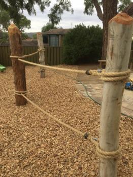 Log and Rope Climb